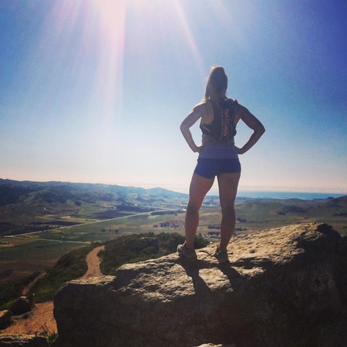 ICU RN, Abbey S., Climbing mountains in California