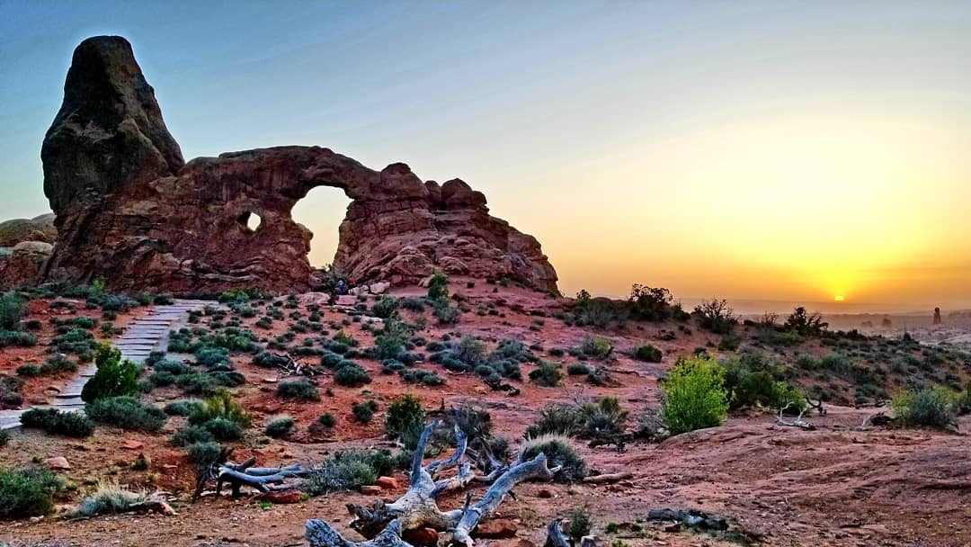 RN, May D., checking out the sunset at Arches National Park