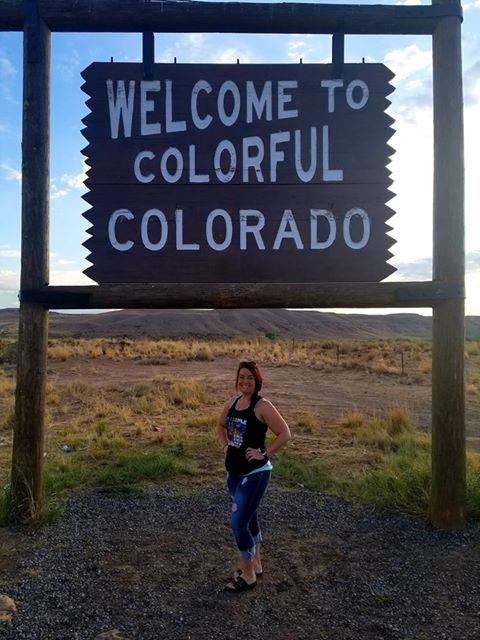 RN, Amanda M., making a quick stop on the Colorado border.