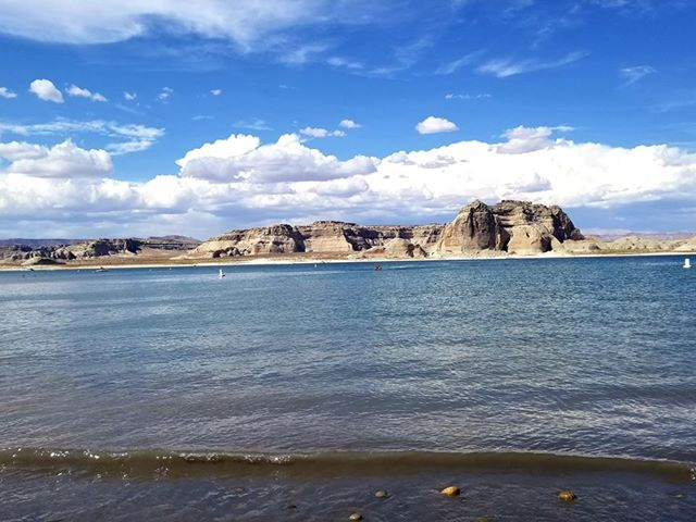 RN, Amanda M., enjoying Lake Powell near Page, Ariz.