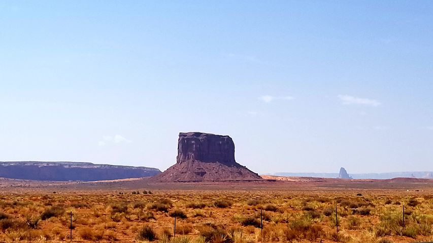 RN, Amanda M., taking snapshots on horseback in Monument Valley near Page, Ariz.
