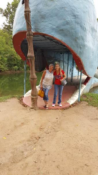 Valysa and Valynda, RNs and sisters, enjoying the sights around Texarkana.