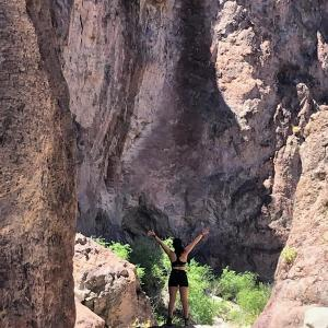 ER RN, Gabi M., exploring Waterhole Canyon