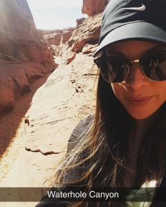 ER RN, Gabi M., exploring Waterhole Canyon