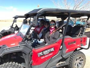 Katherine C.- ER (left), Gabi M. – ER (center) and Arielle M. - ER (right) off-roading in New Mexico.
