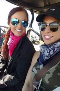 Arielle M. - ER (left) and Gabi M. – ER (right), off-roading in New Mexico.