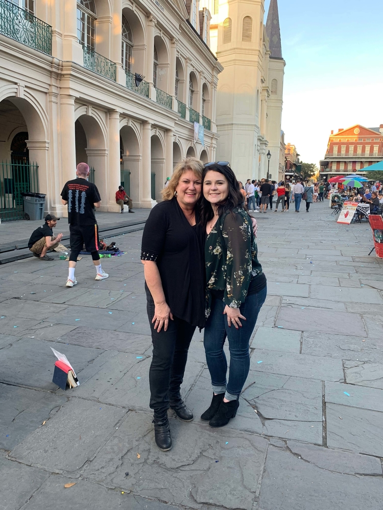 RN, Jan K., met up with her recruiter Lauren while seeing the sights in New Orleans, Louis.